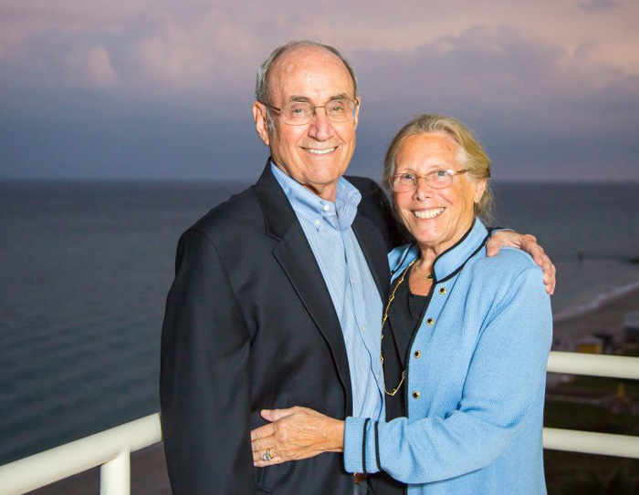 Gary Gladstein '66 (CLAS), '08 (HON) and his wife Dr. Phyllis Gladstein