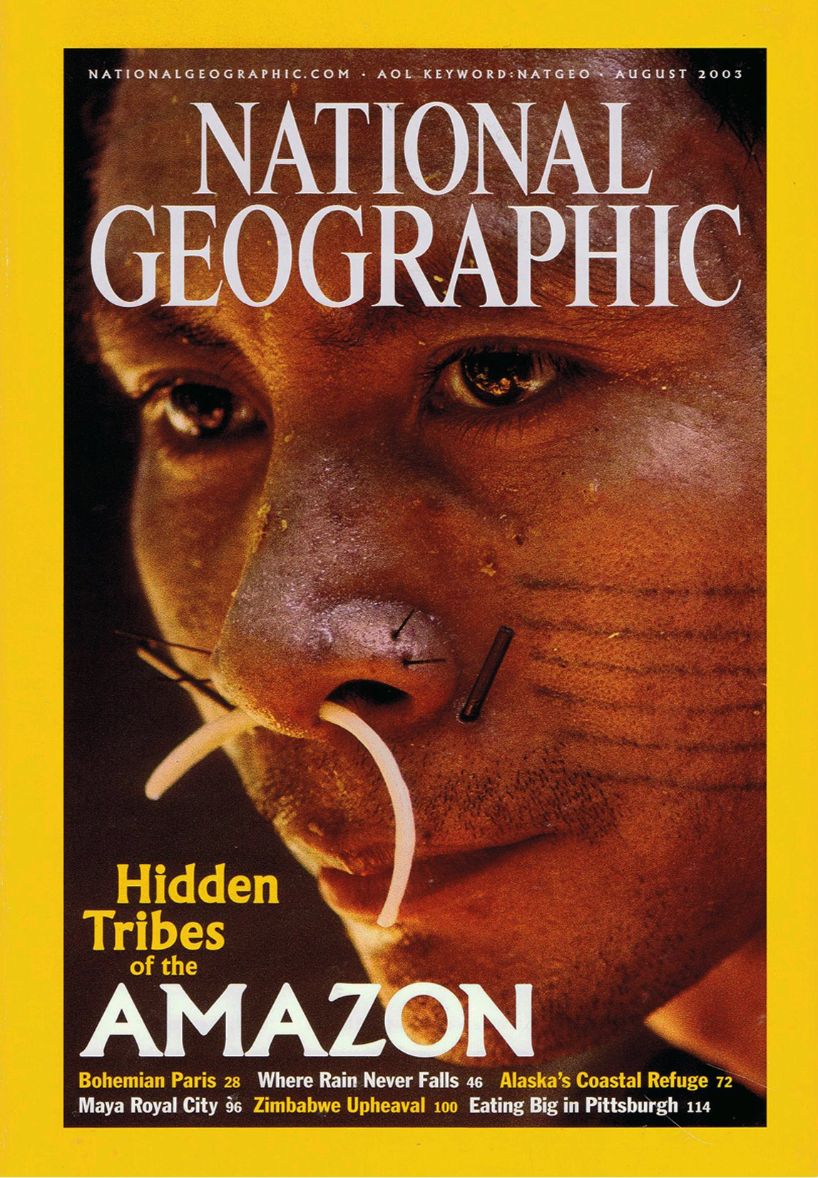 National Geographic Cover - Hidden Tribes of the Amazon