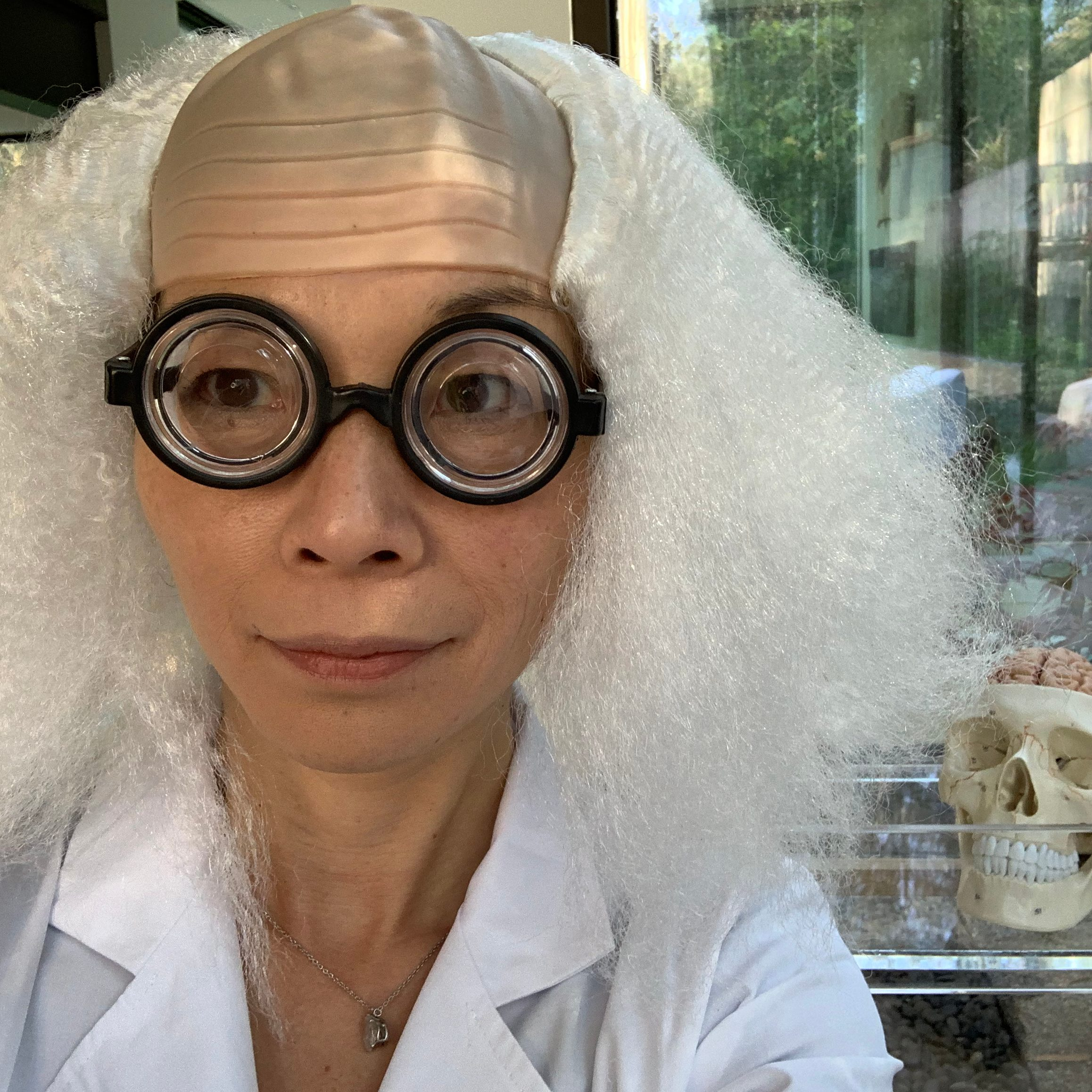 Fumiko Hoeft brings a little Einstein style to her classroom