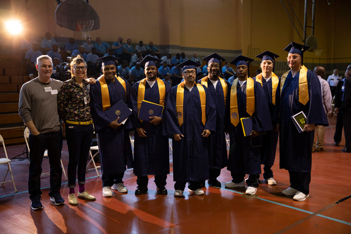 Timothy Barnett '86 (CLAS) with other graduates