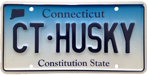 CT Husky CT license plate