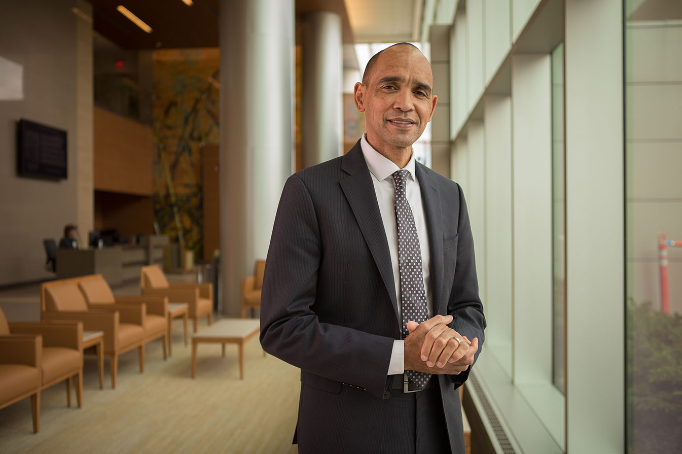 UConn Health CEO and interim president 2021, Dr. Andrew Agwunobi