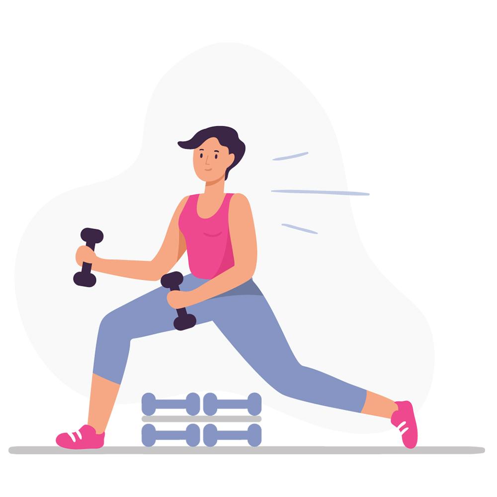 illustration of woman exercising