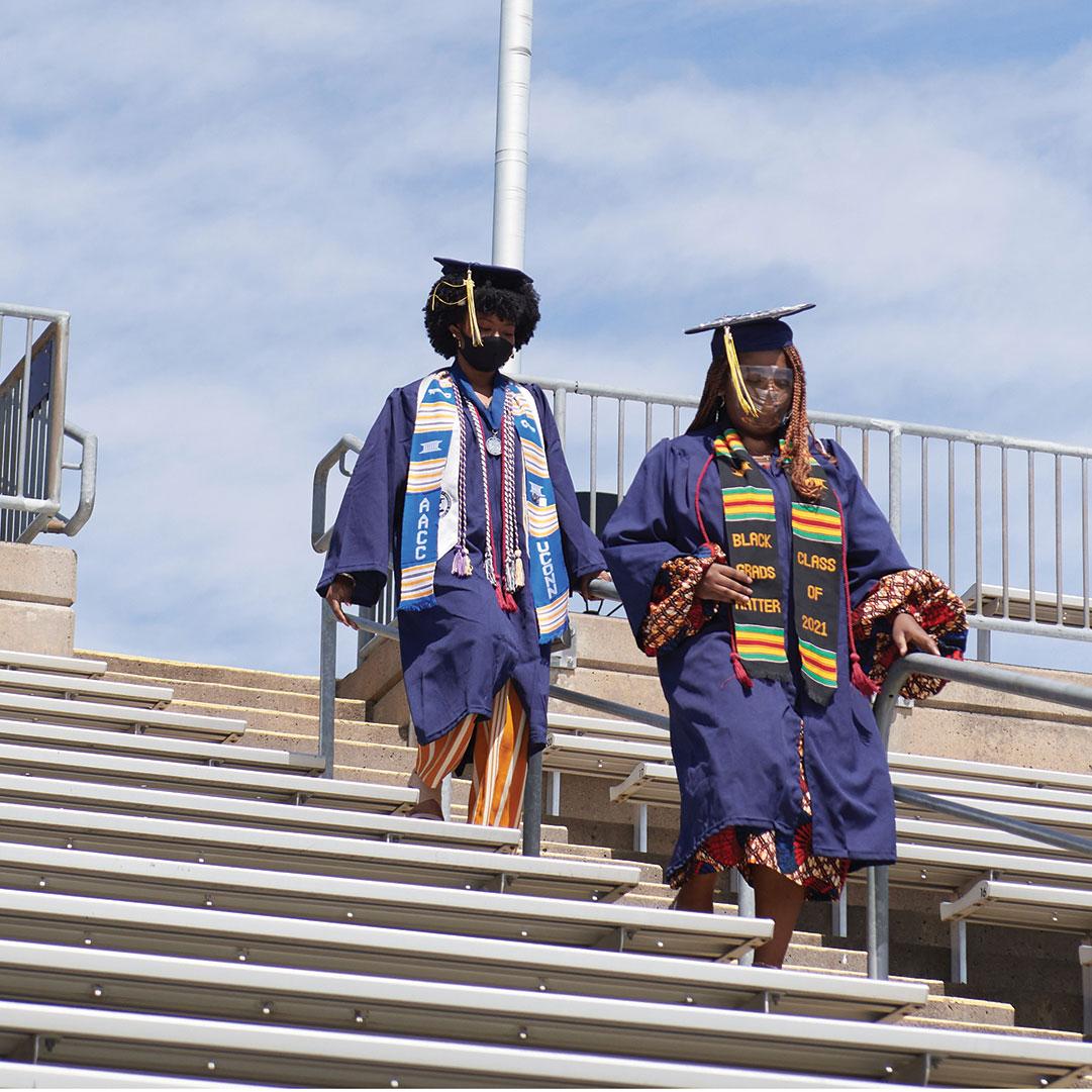 CLAS grads head down the bleachers
