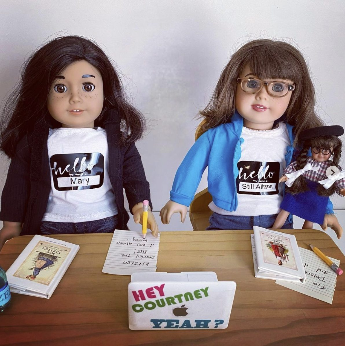 A fan crafted Mary and Allison as American Girl dolls