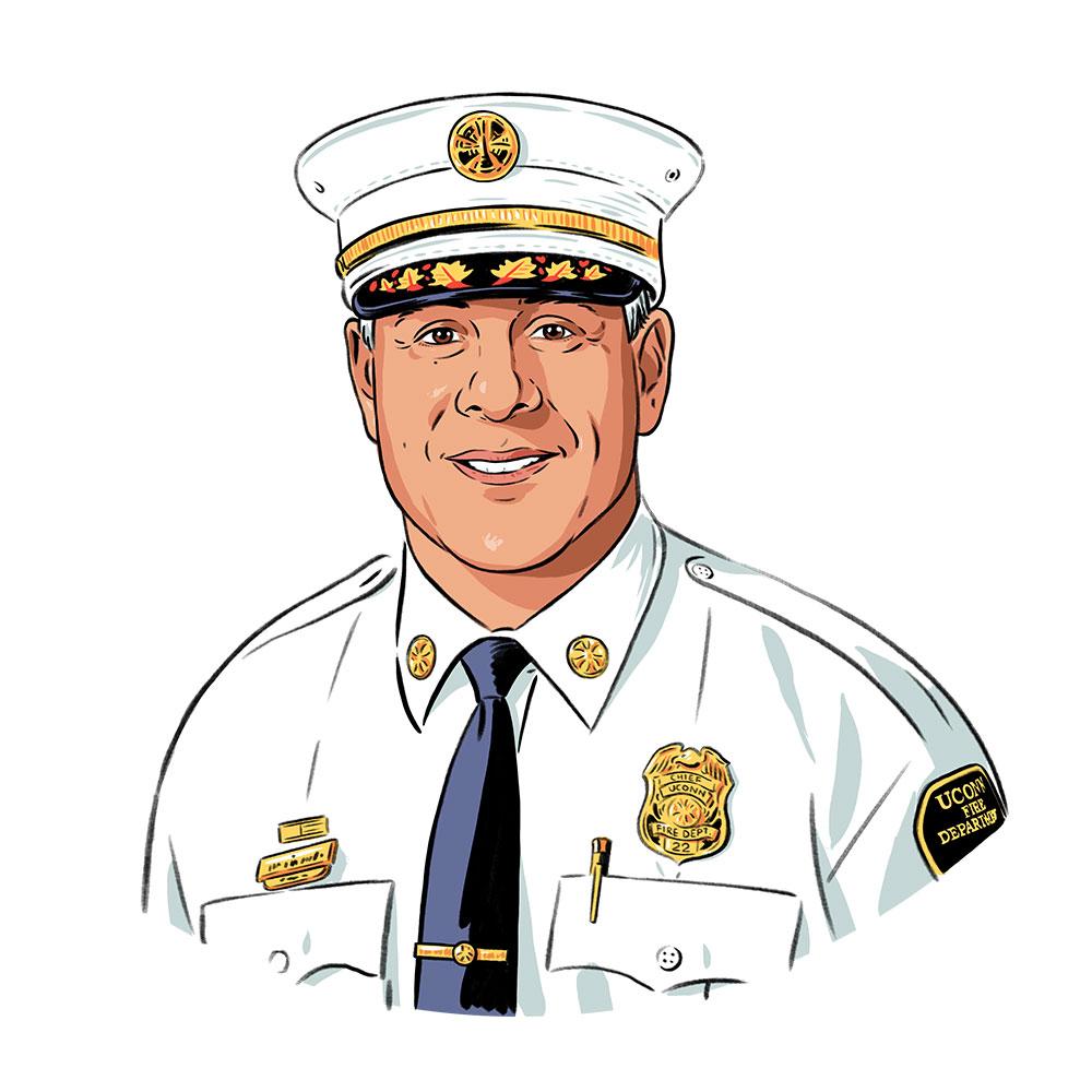 Portrait of UConn's fire chief, William Perez