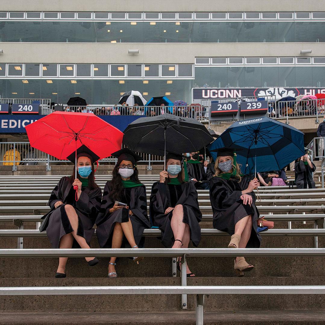 School of Medicine students had a rainy day