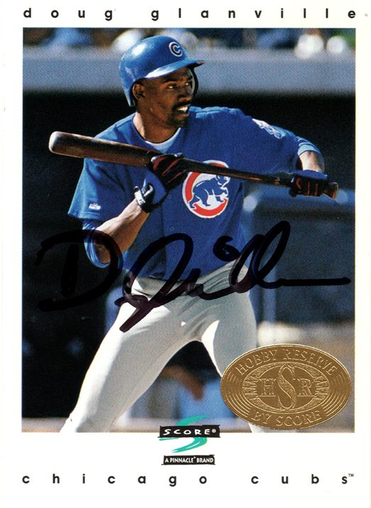 Doug Glanville Chicago Cubs Baseball Card with Autograph