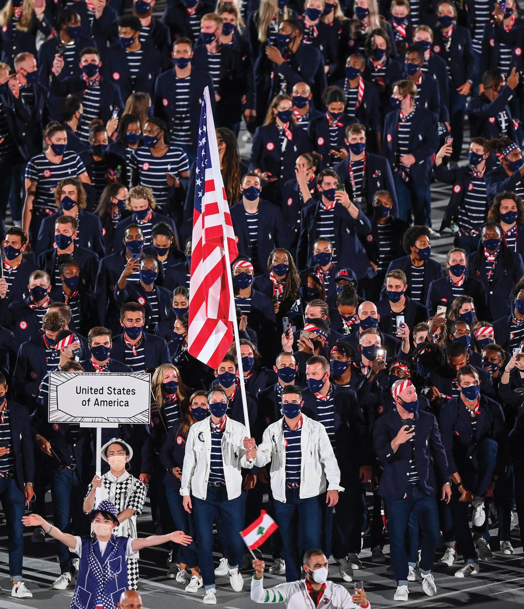 Team USA flagbears in Tokyo, Japan