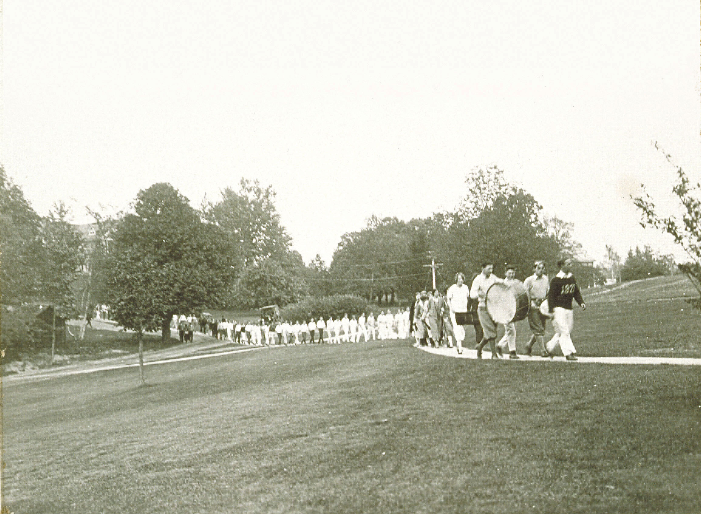 archival photo of students
