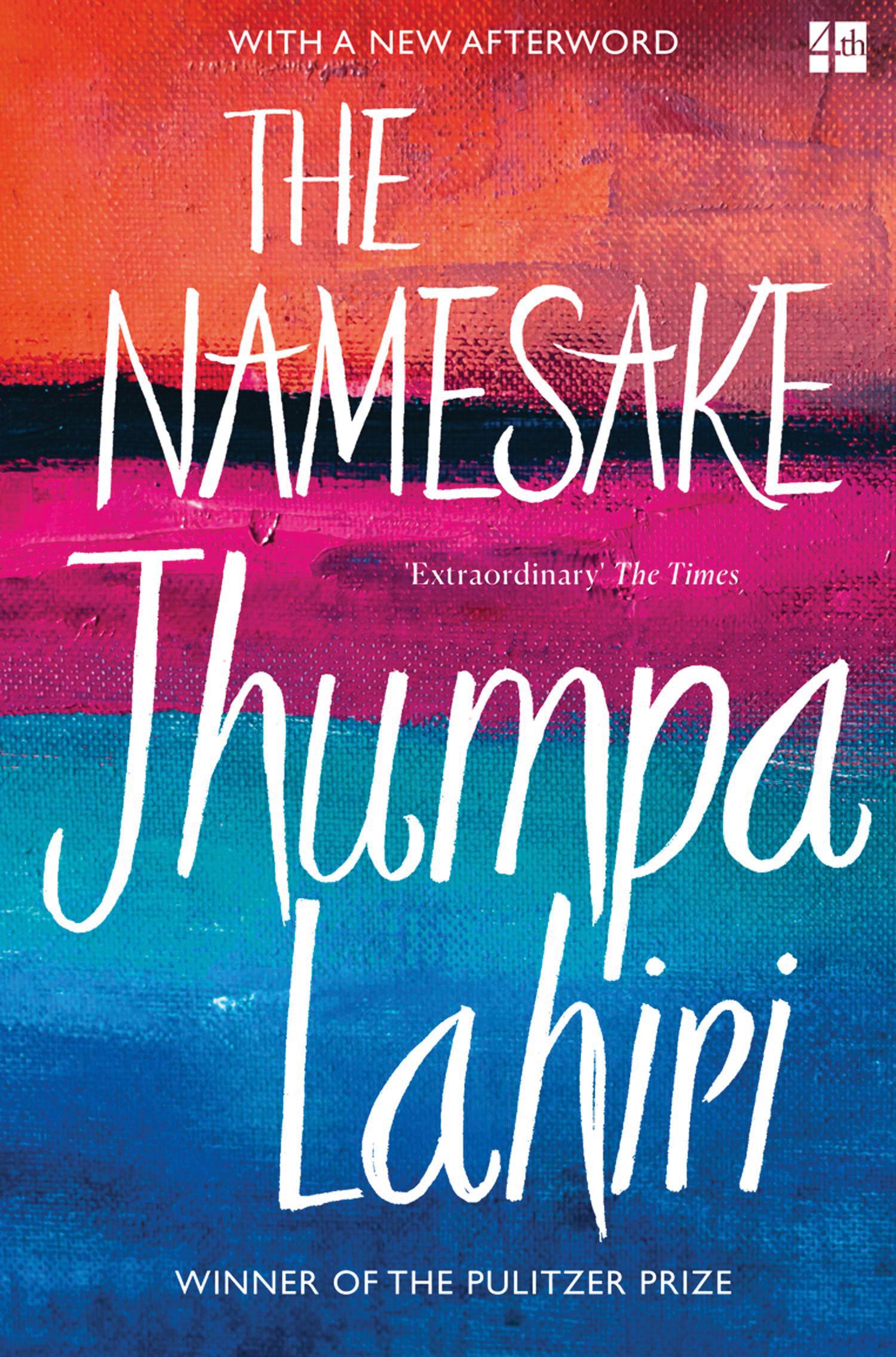 """Cover for Pulitzer Prize winner """"The Namesake"""" by Jhumpa Lahiri"""